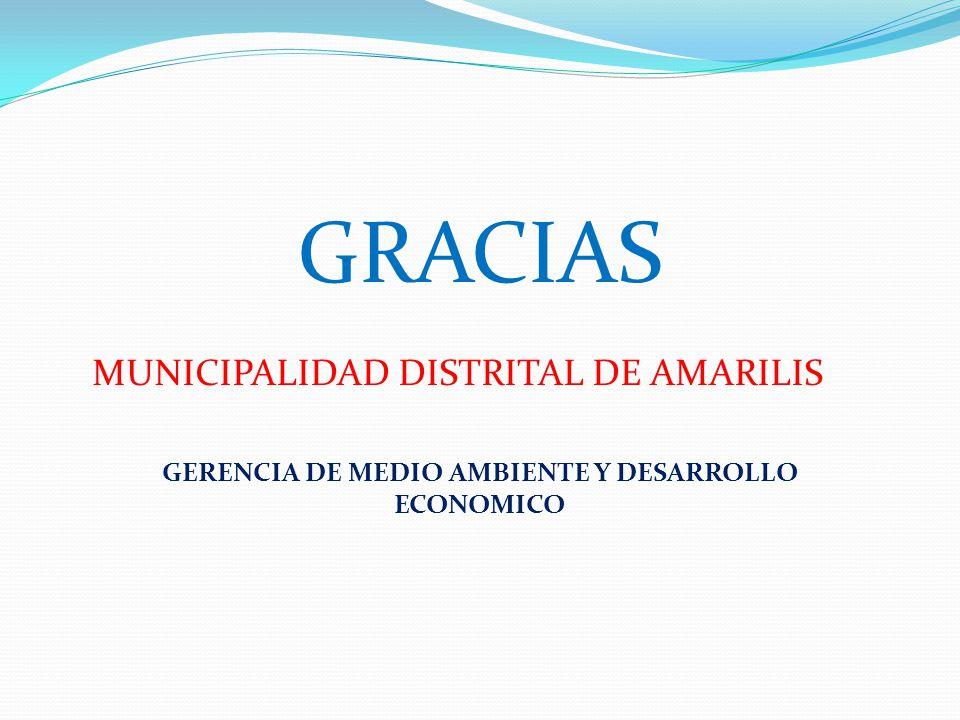 GERENCIA DE MEDIO AMBIENTE Y DESARROLLO ECONOMICO