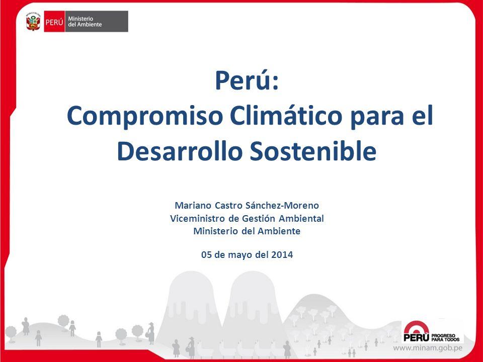 Perú: Compromiso Climático para el Desarrollo Sostenible