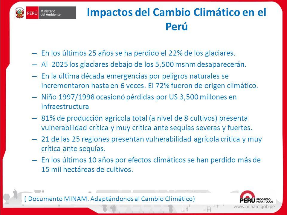 Impactos del Cambio Climático en el Perú