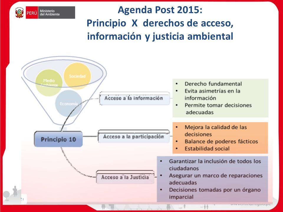 Principio X derechos de acceso, información y justicia ambiental