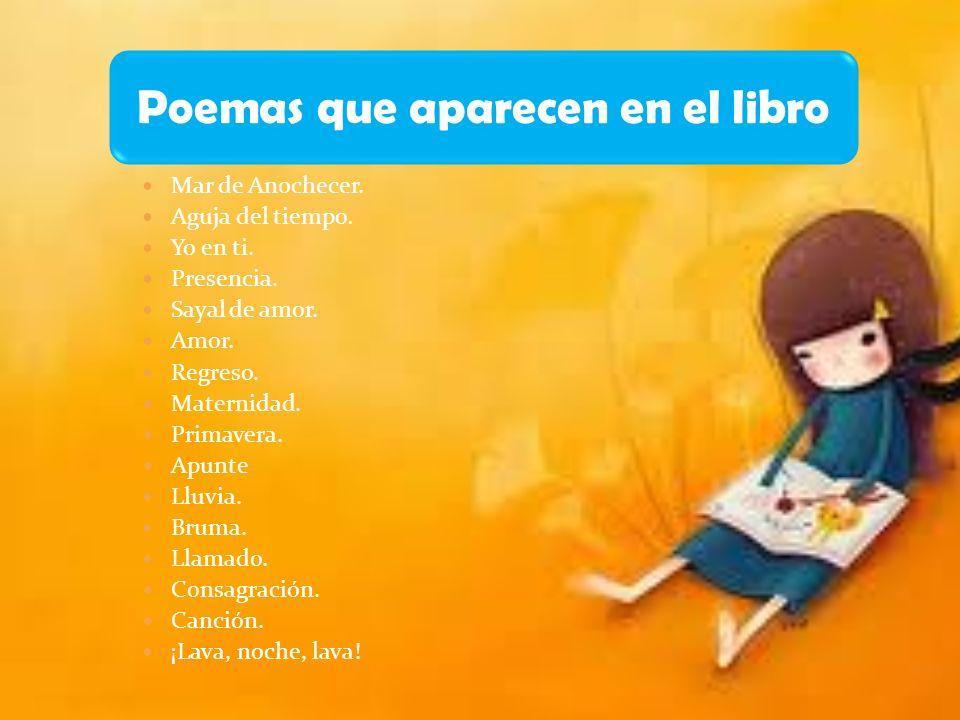 Poemas que aparecen en el libro