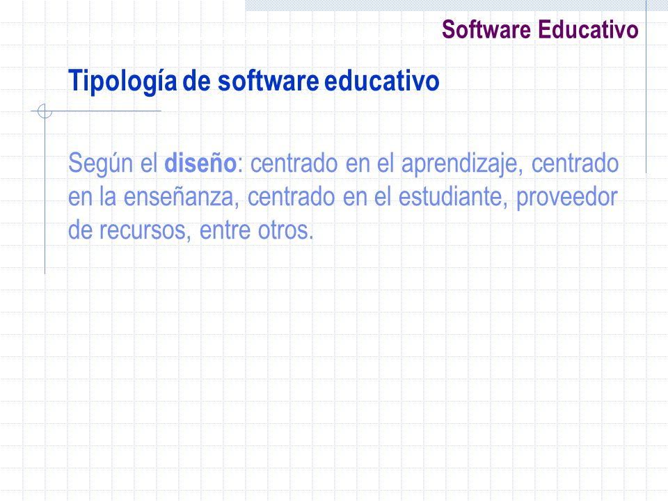 Tipología de software educativo