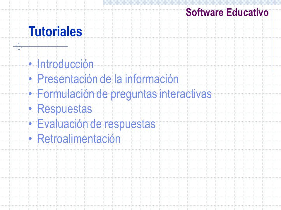 Tutoriales Introducción Presentación de la información