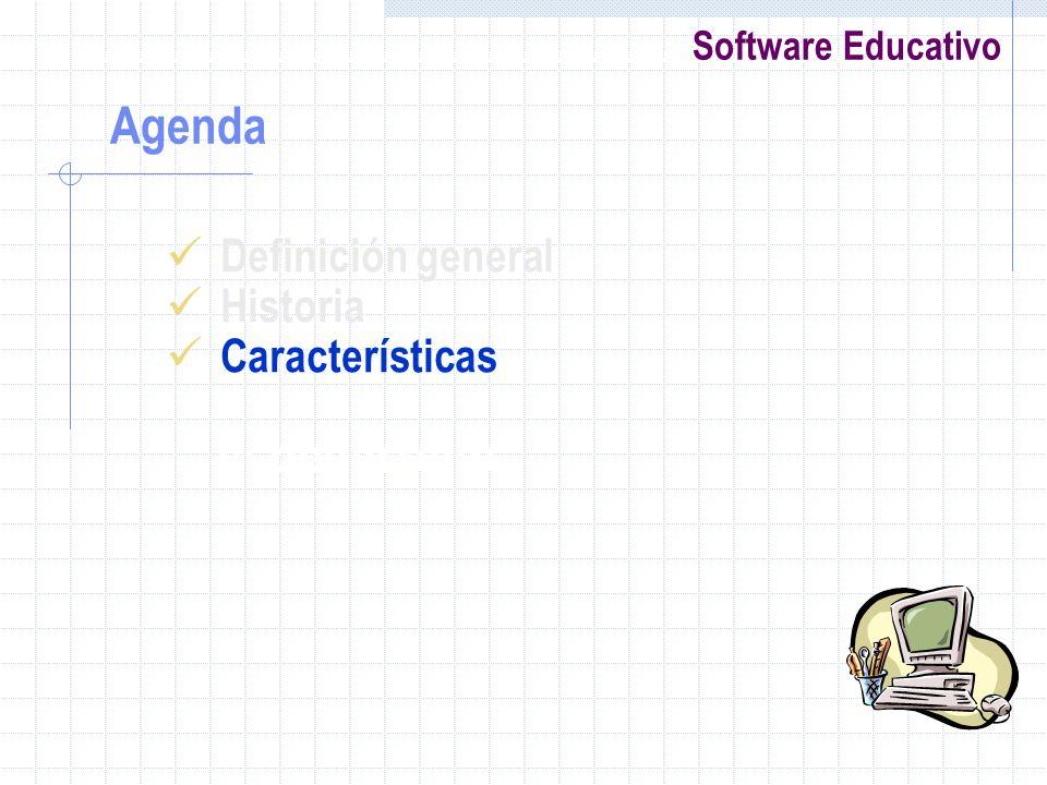 Agenda Definición general Historia Características el desarrollo
