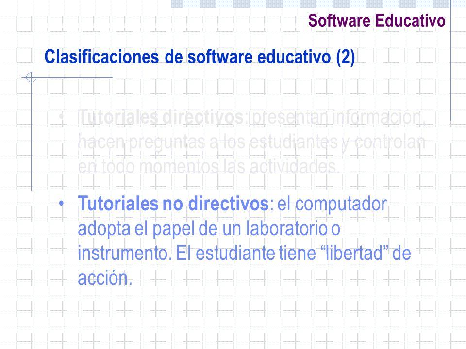 Clasificaciones de software educativo (2)