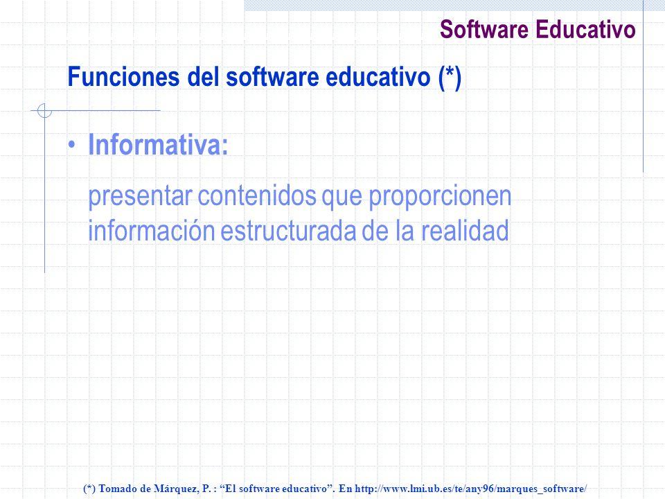 Funciones del software educativo (*)