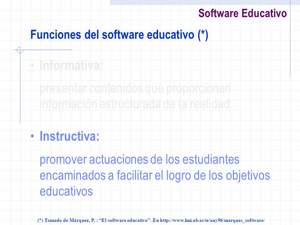 Funciones del software educativo (*)
