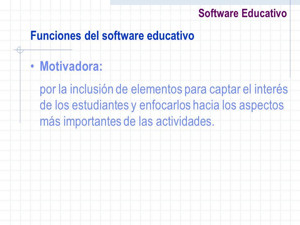 Funciones del software educativo