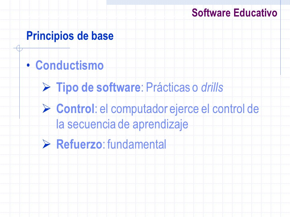Tipo de software: Prácticas o drills