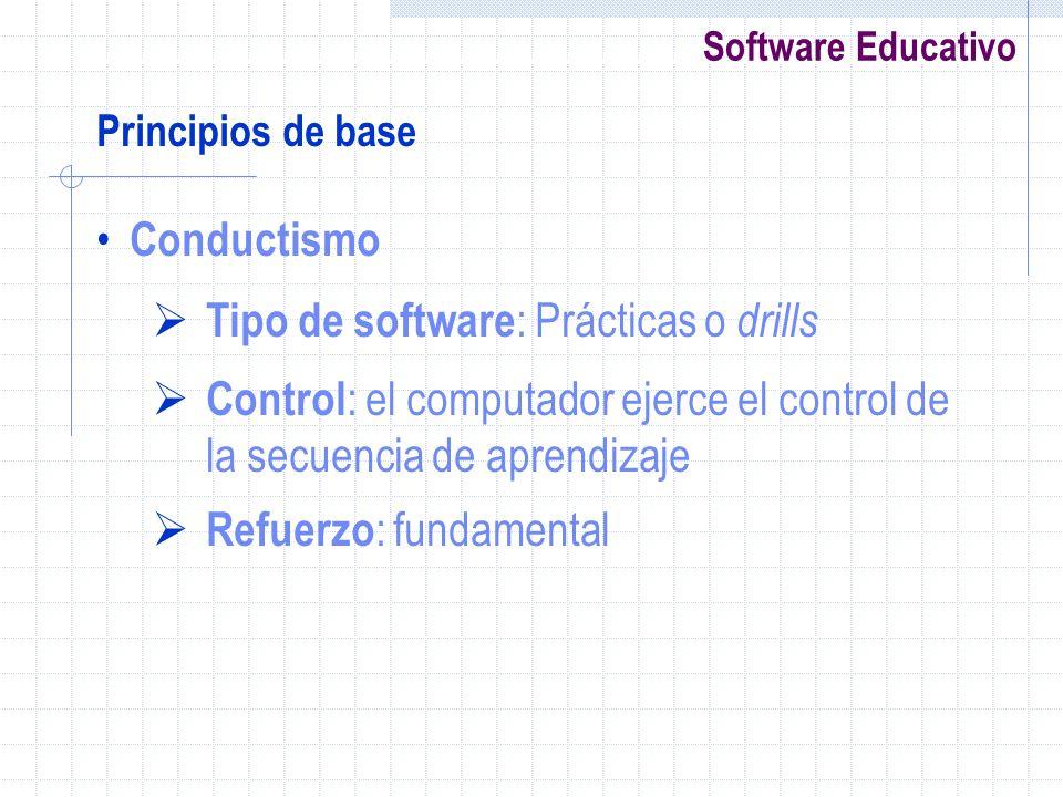 Tipo de software: Prácticas o drills