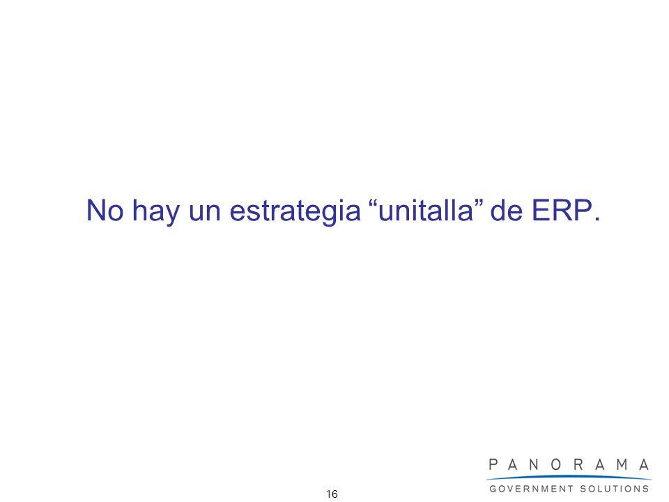 No hay un estrategia unitalla de ERP.