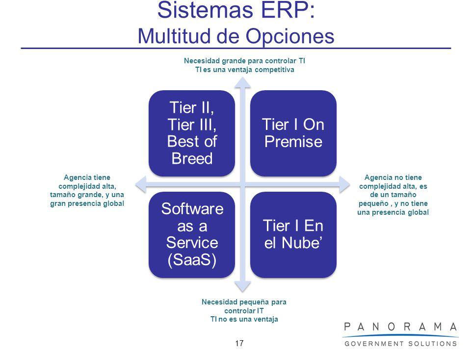 Sistemas ERP: Multitud de Opciones