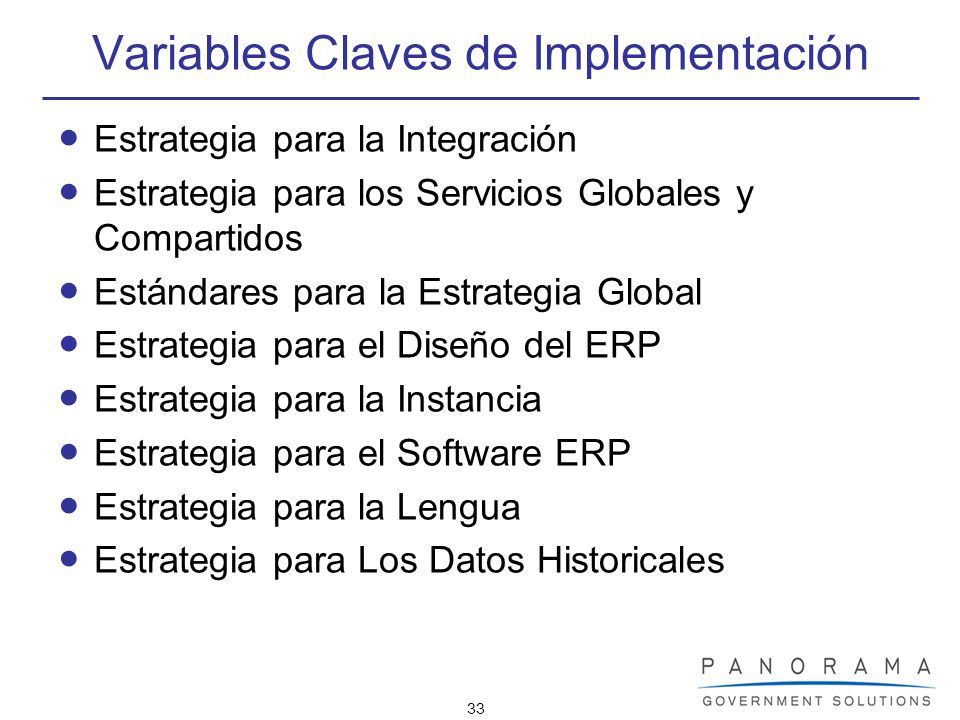 Variables Claves de Implementación