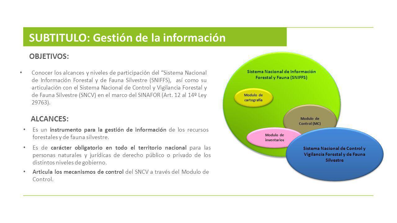 SUBTITULO: Gestión de la información