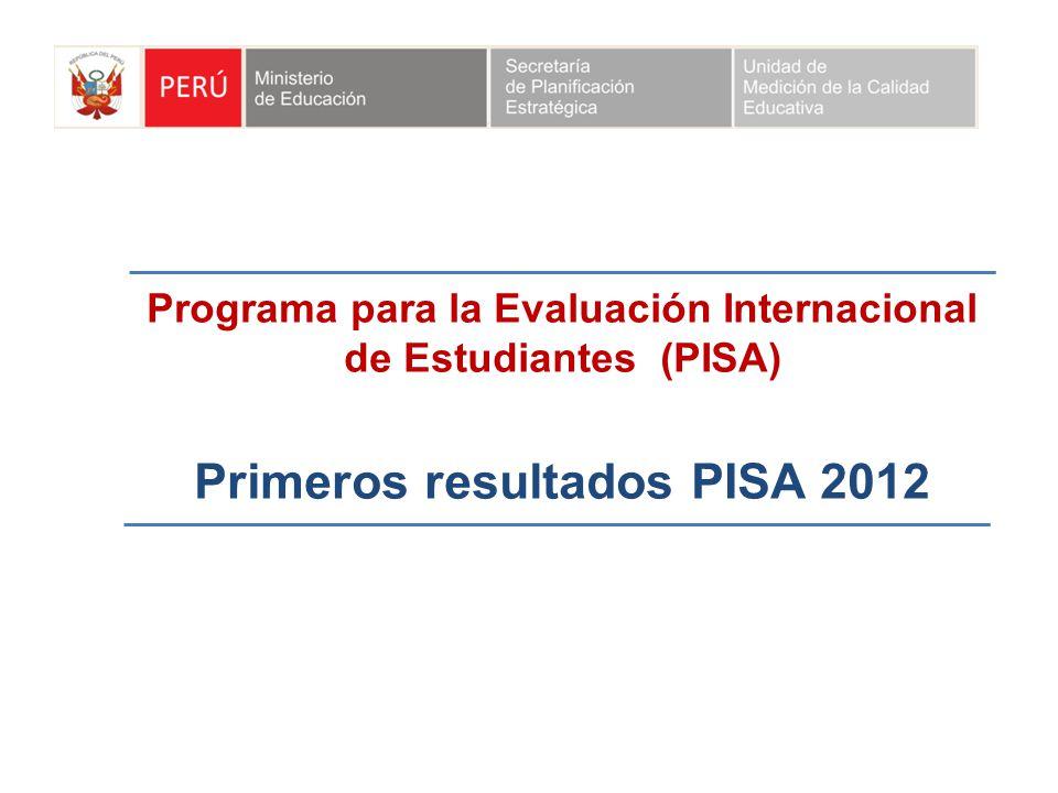 Primeros resultados PISA 2012