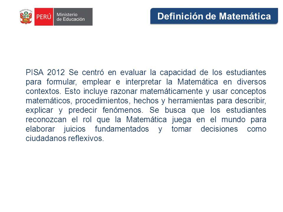 Definición de Matemática