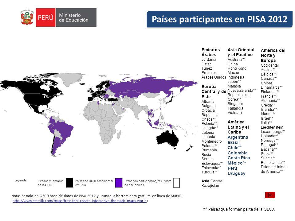 Países participantes en PISA 2012