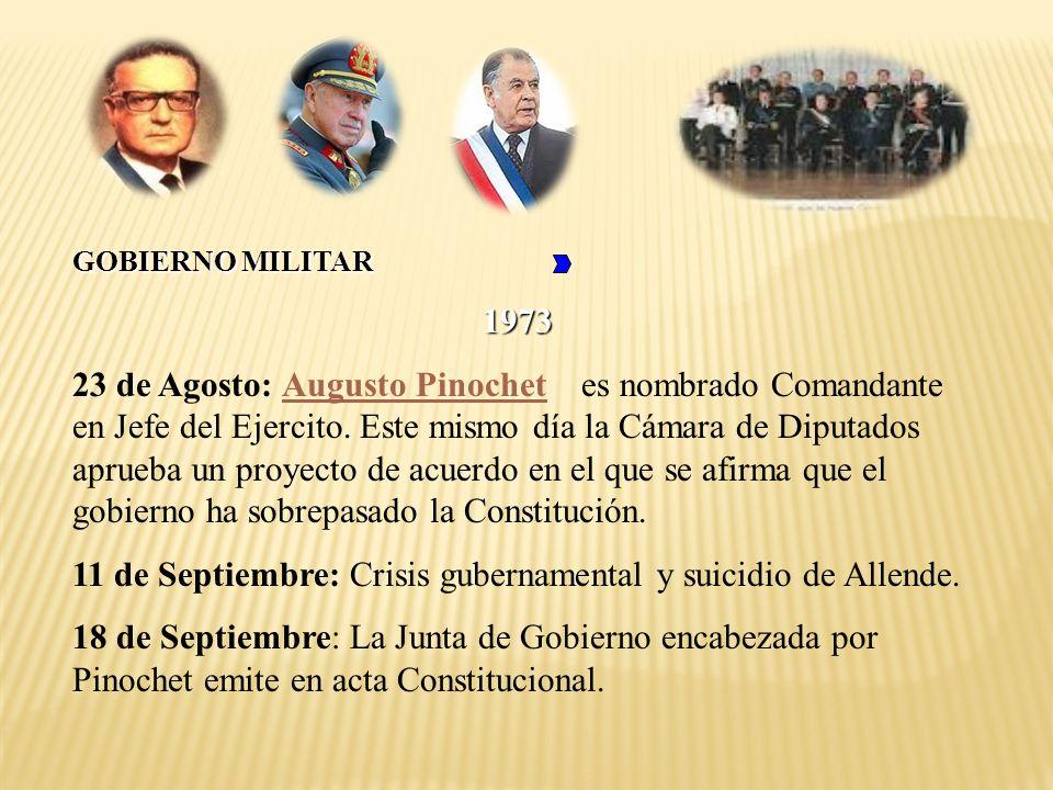 11 de Septiembre: Crisis gubernamental y suicidio de Allende.