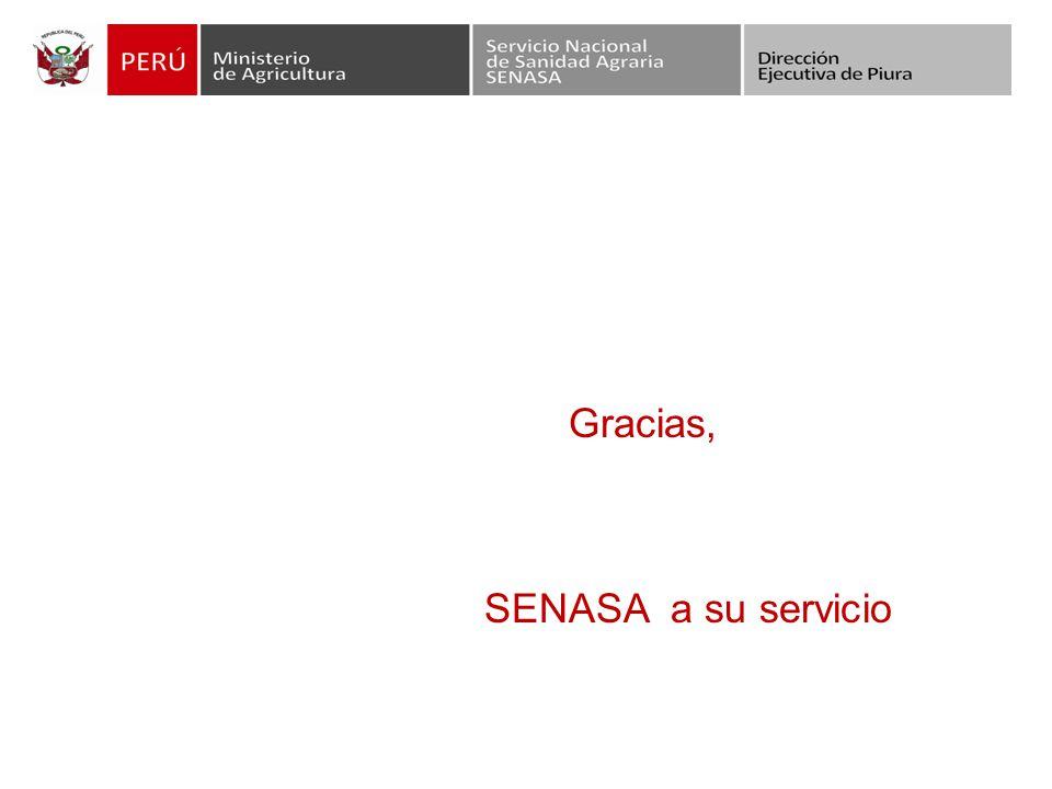Gracias, SENASA a su servicio
