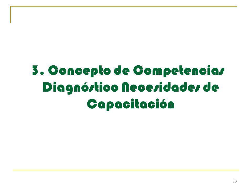 3. Concepto de Competencias Diagnóstico Necesidades de Capacitación