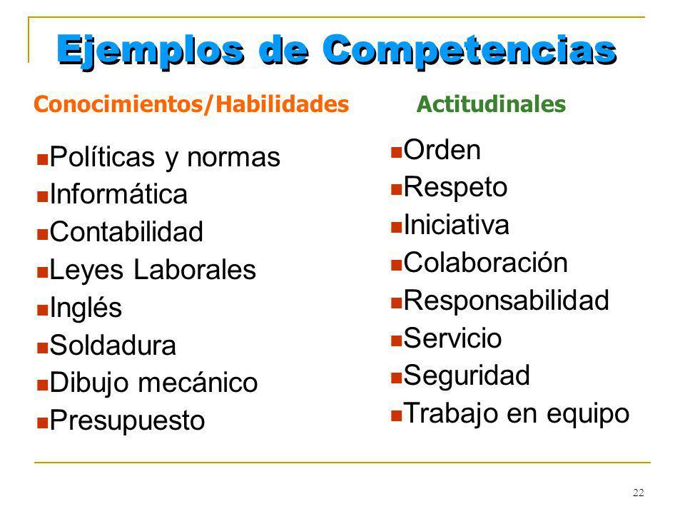 Conocimientos/Habilidades