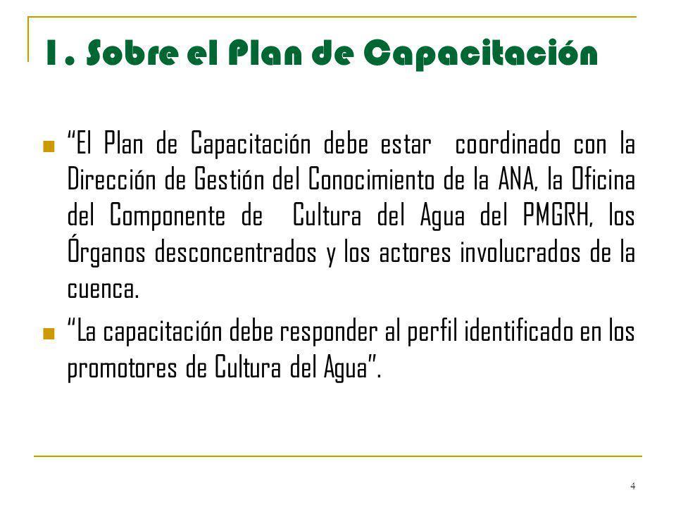 1. Sobre el Plan de Capacitación