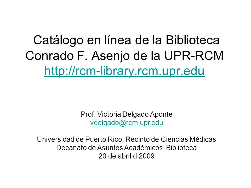 Prof. Victoria Delgado Aponte