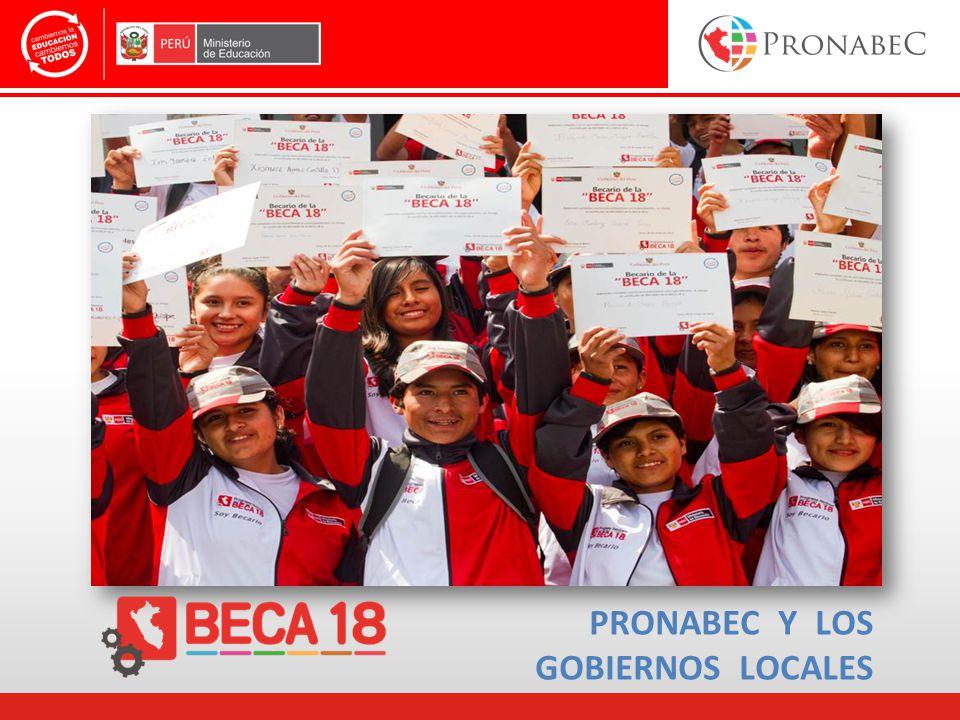 PRONABEC Y LOS GOBIERNOS LOCALES