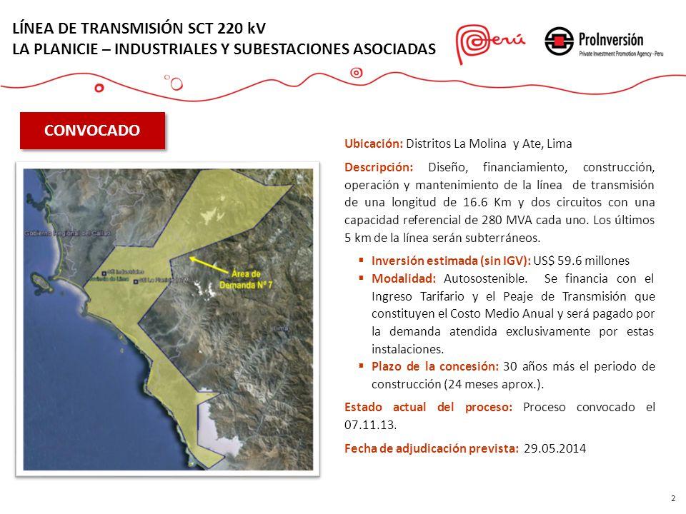 LÍNEA DE TRANSMISIÓN SCT 220 kV