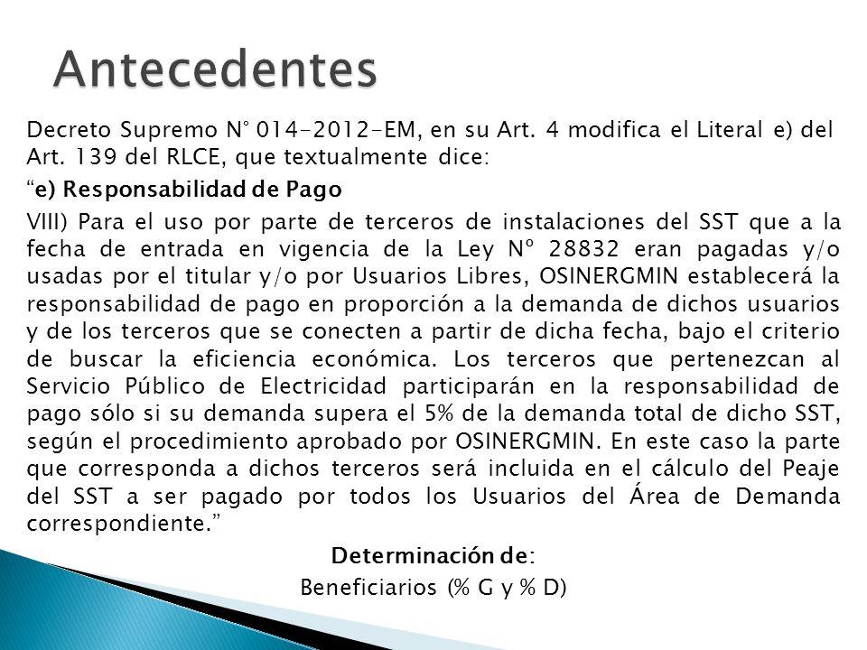 Beneficiarios (% G y % D)