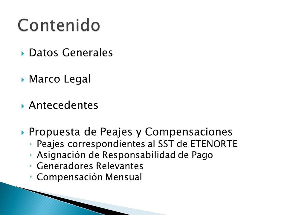 Contenido Datos Generales Marco Legal Antecedentes