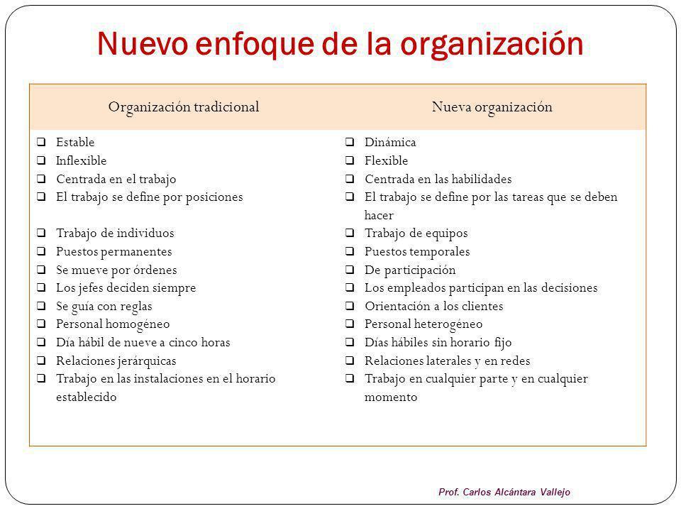 Nuevo enfoque de la organización