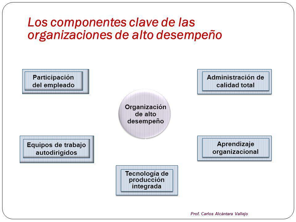 Los componentes clave de las organizaciones de alto desempeño