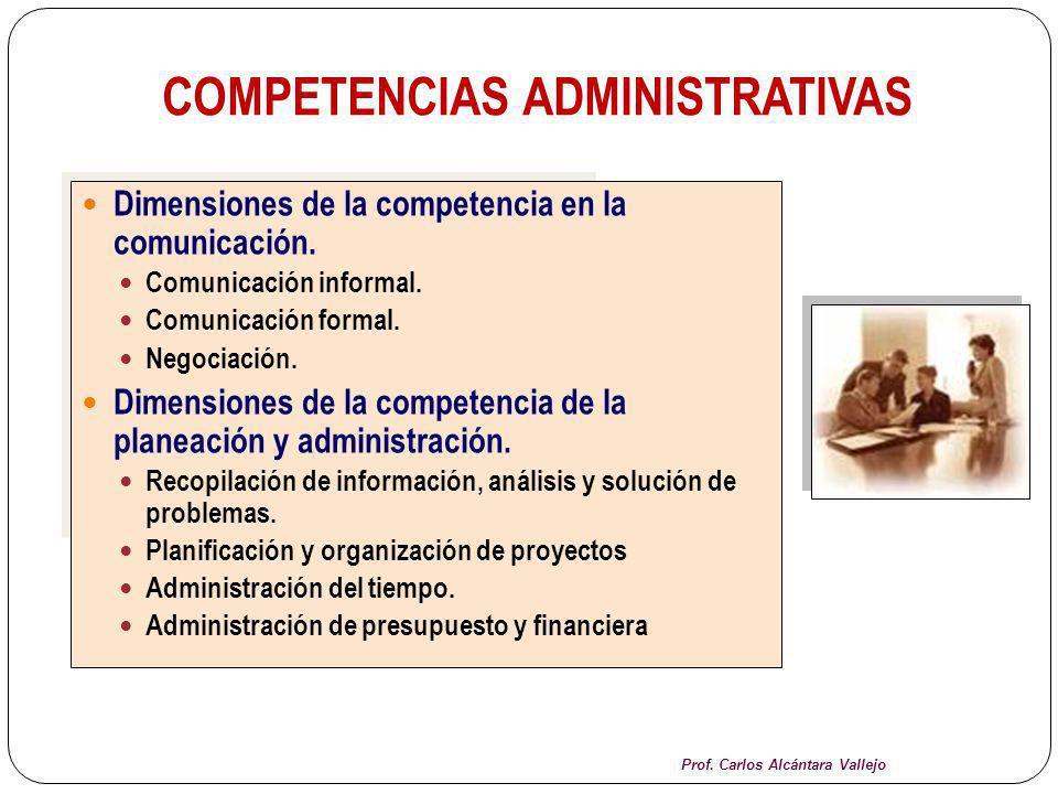 COMPETENCIAS ADMINISTRATIVAS