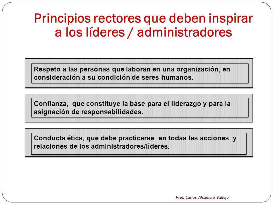 Principios rectores que deben inspirar a los líderes / administradores