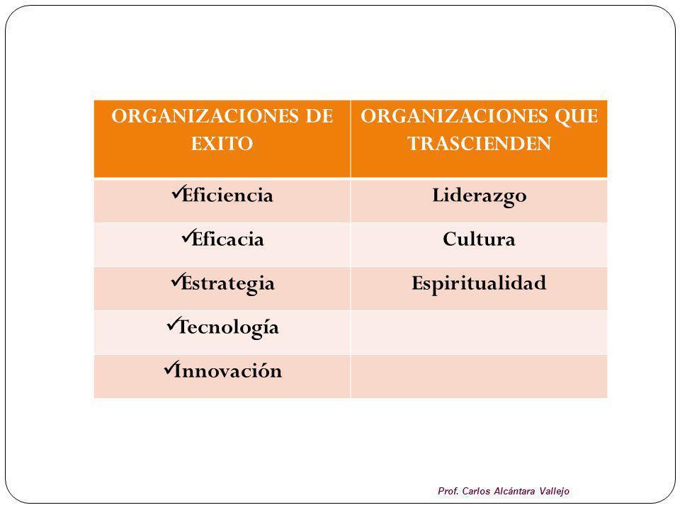 ORGANIZACIONES DE EXITO ORGANIZACIONES QUE TRASCIENDEN