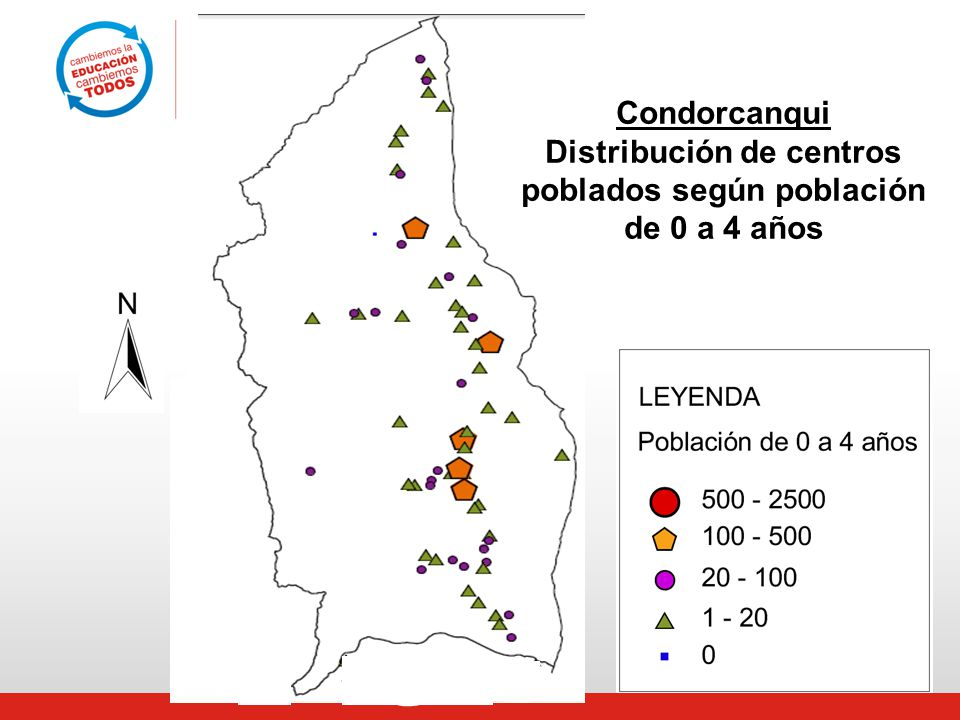 Distribución de centros poblados según población
