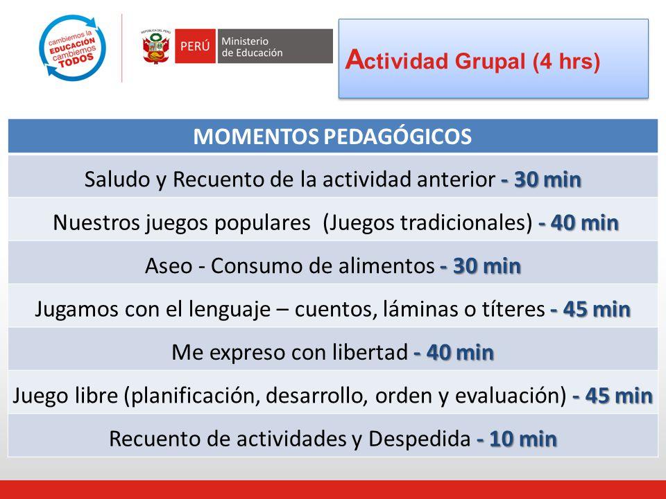 Actividad Grupal (4 hrs)
