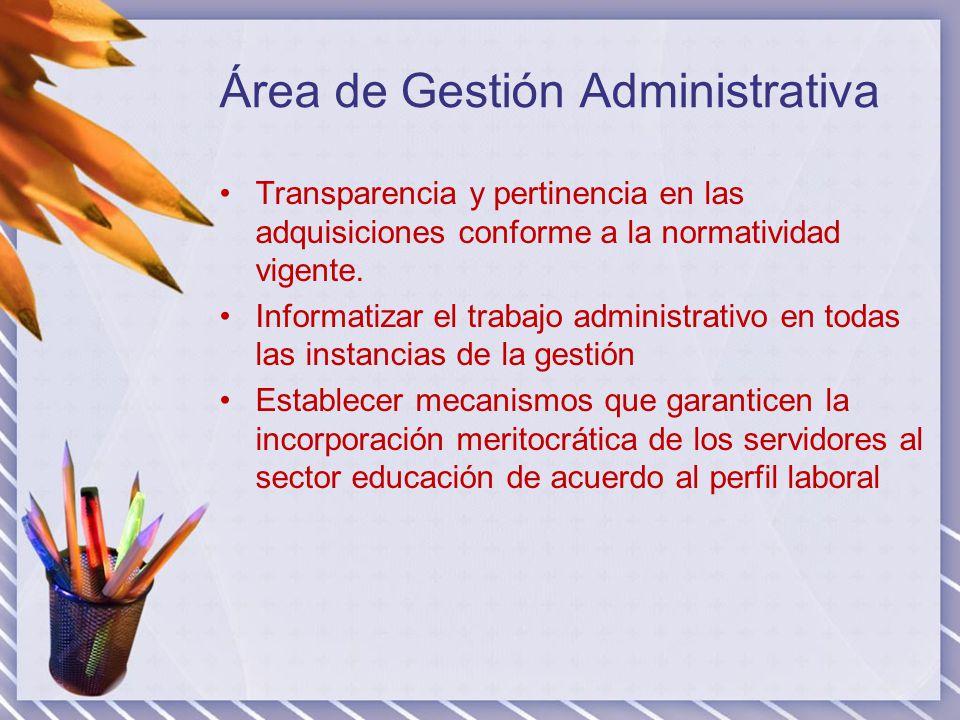 Área de Gestión Administrativa