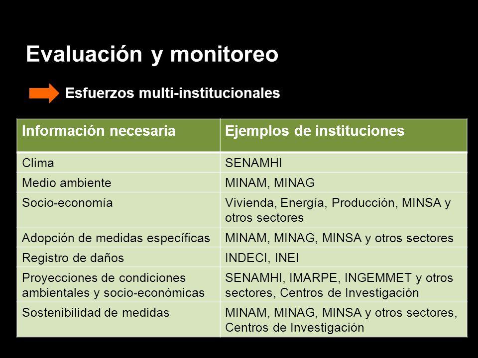 Evaluación y monitoreo