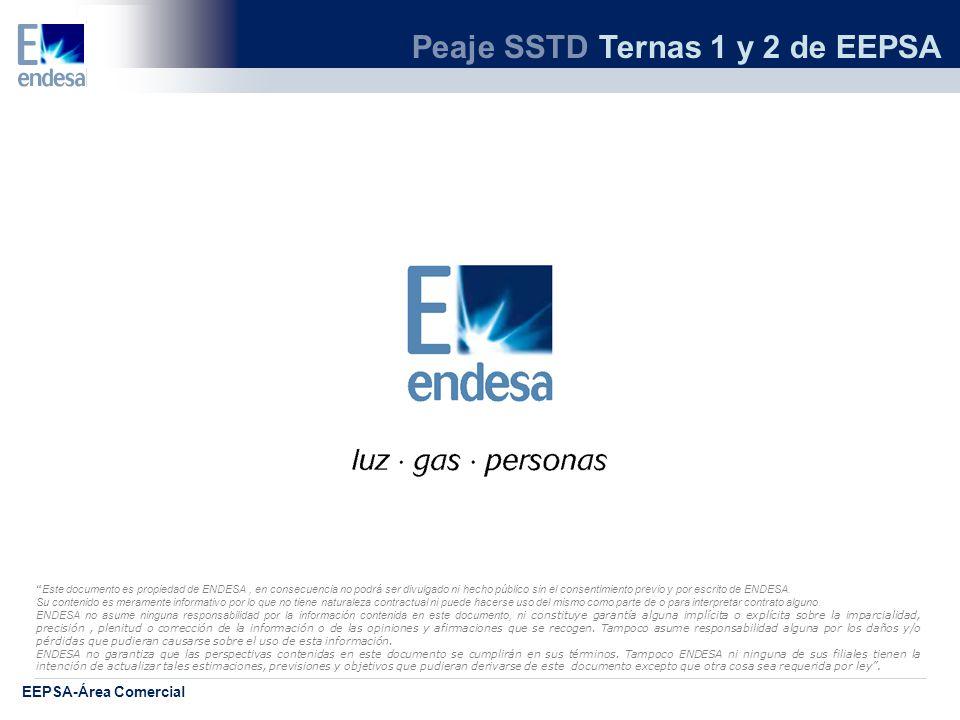 Este documento es propiedad de ENDESA , en consecuencia no podrá ser divulgado ni hecho público sin el consentimiento previo y por escrito de ENDESA.