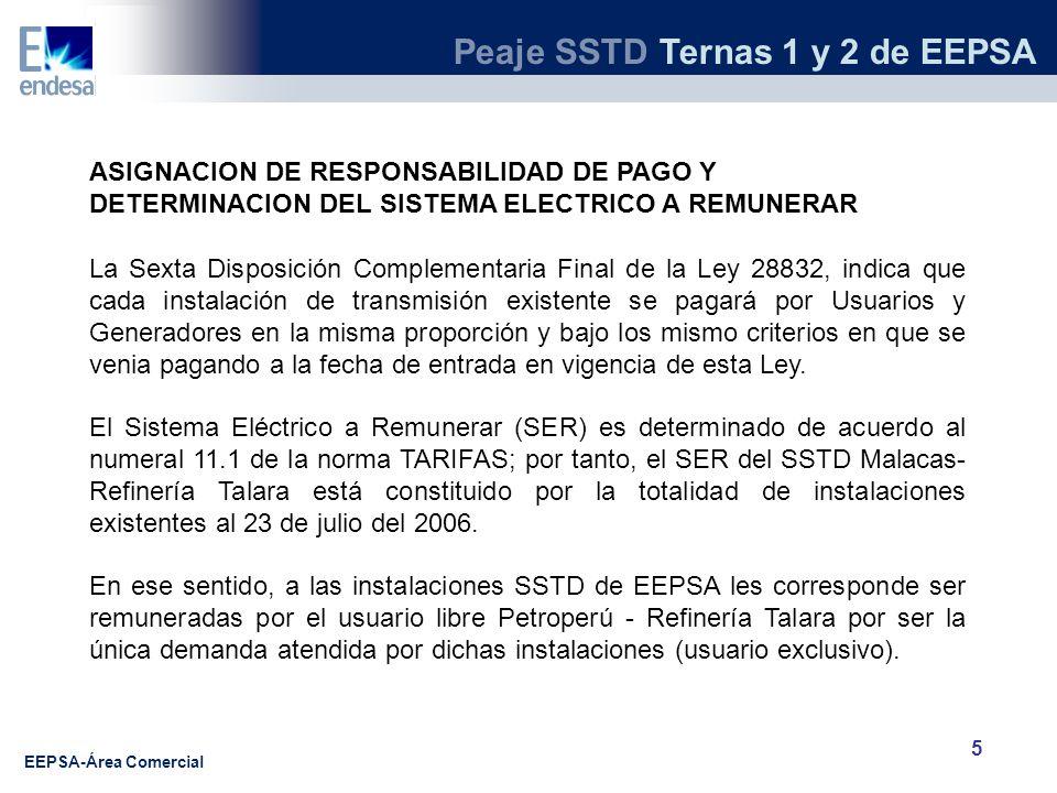 ASIGNACION DE RESPONSABILIDAD DE PAGO Y DETERMINACION DEL SISTEMA ELECTRICO A REMUNERAR