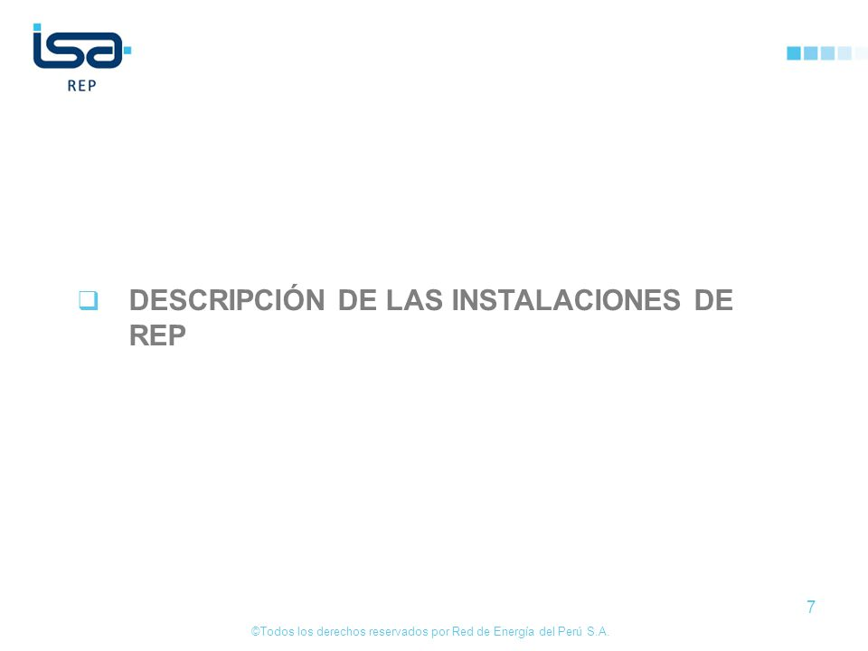DESCRIPCIÓN DE LAS INSTALACIONES DE REP