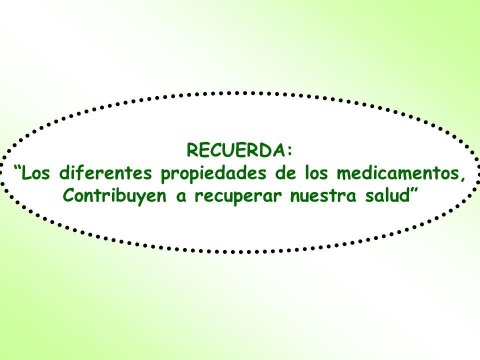 Los diferentes propiedades de los medicamentos,
