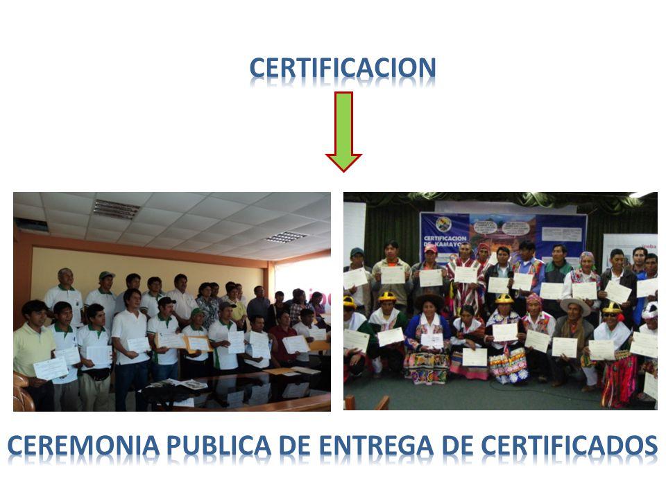 CERTIFICACION CEREMONIA PUBLICA DE ENTREGA DE CERTIFICADOS