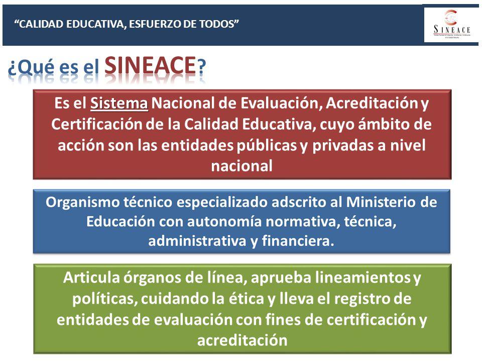 CALIDAD EDUCATIVA, ESFUERZO DE TODOS