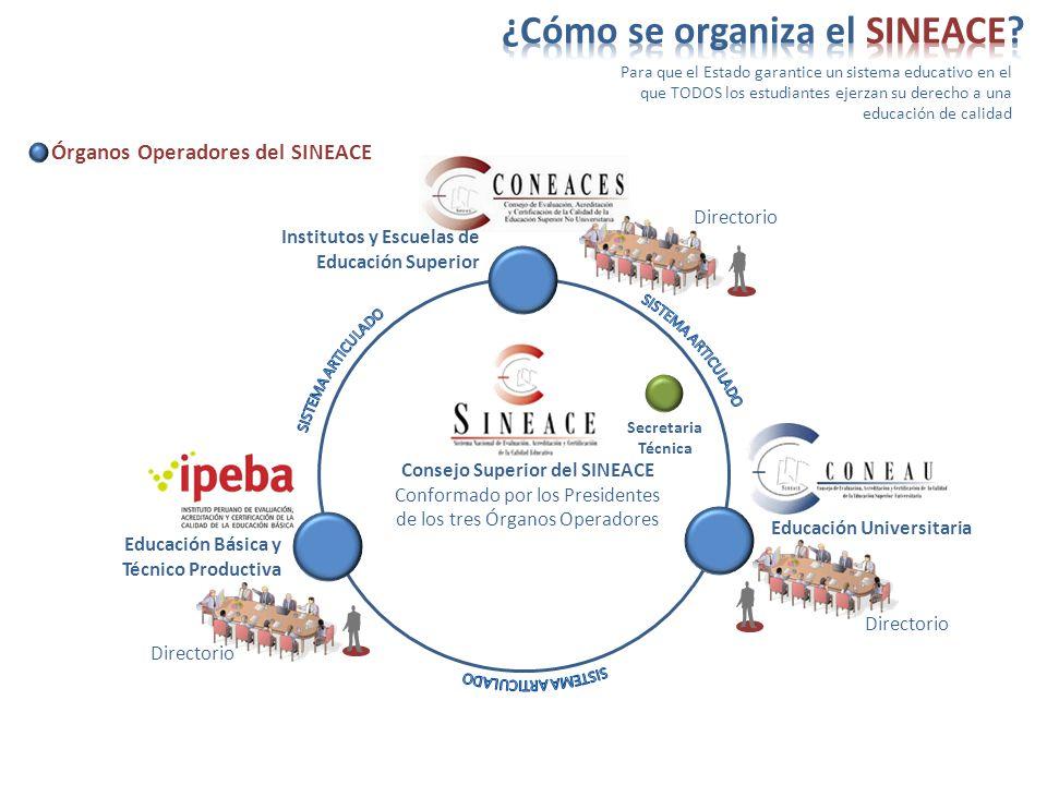 ¿Cómo se organiza el SINEACE
