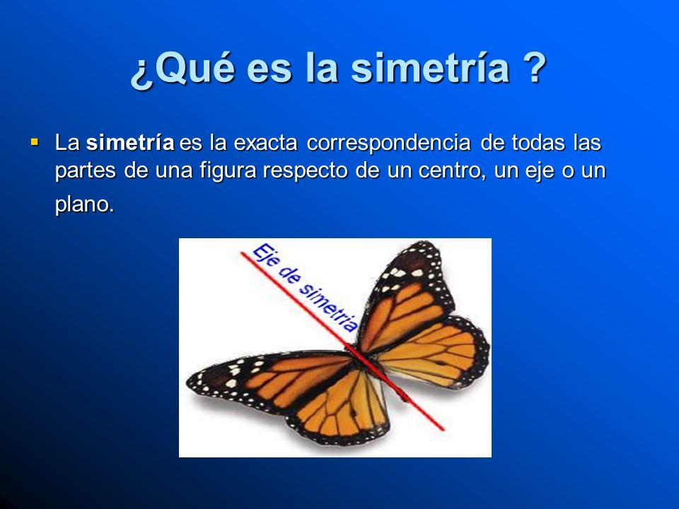 ¿Qué es la simetría .