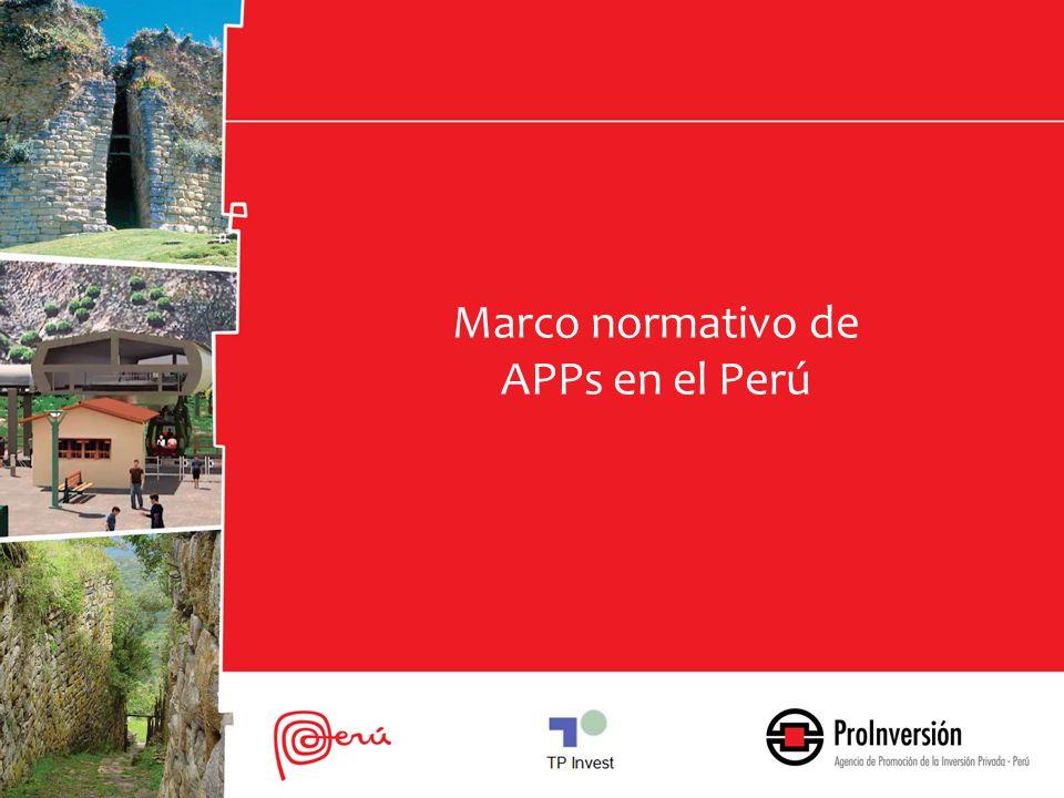 Marco normativo de APPs en el Perú