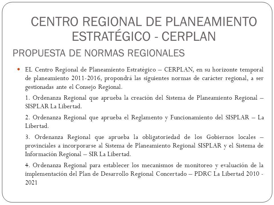 CENTRO REGIONAL DE PLANEAMIENTO ESTRATÉGICO - CERPLAN